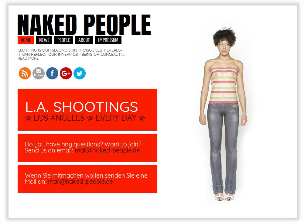 Menschen in Alltagskleidung und wie sie darunter aussehen. Das Projekt auf naked-people.de (Quelle: Screenshot naked-people.de)
