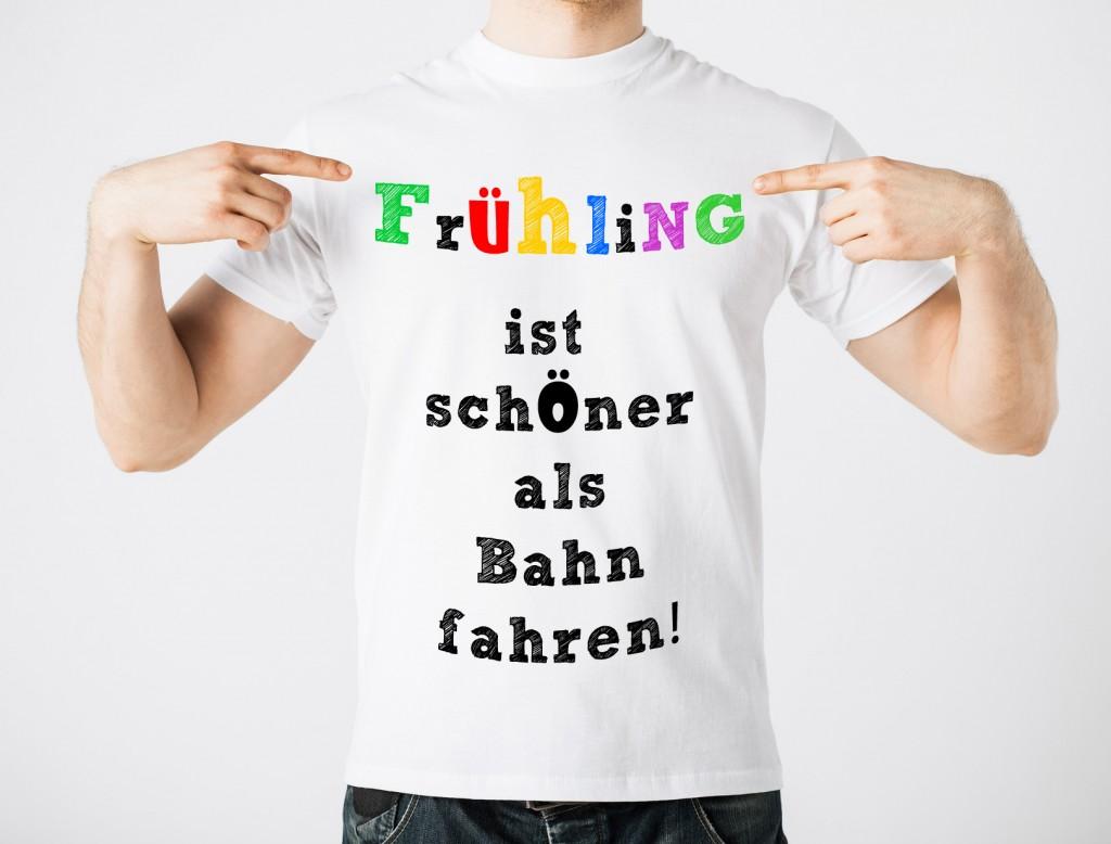 Frühlingszeit ist T-Shirtzeit und da gibt es reichlich Platz für Statements