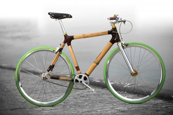 Das Single Speed Bambusfahrrad von Bambooride aus Wien.