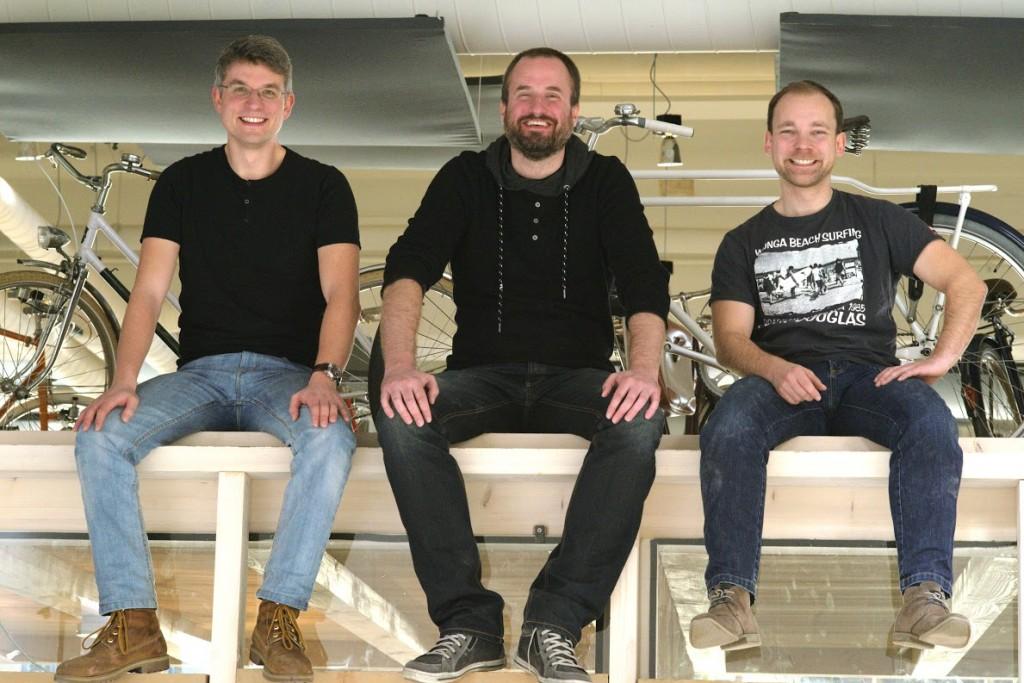 SWOP-Team Gründer Matthias Hoffmann, Christoph Kastenbauer und Thomas Gärtner
