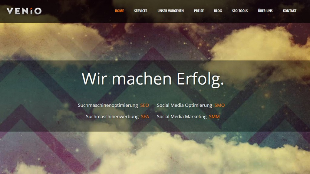 VENiO.ch (Screenshot)