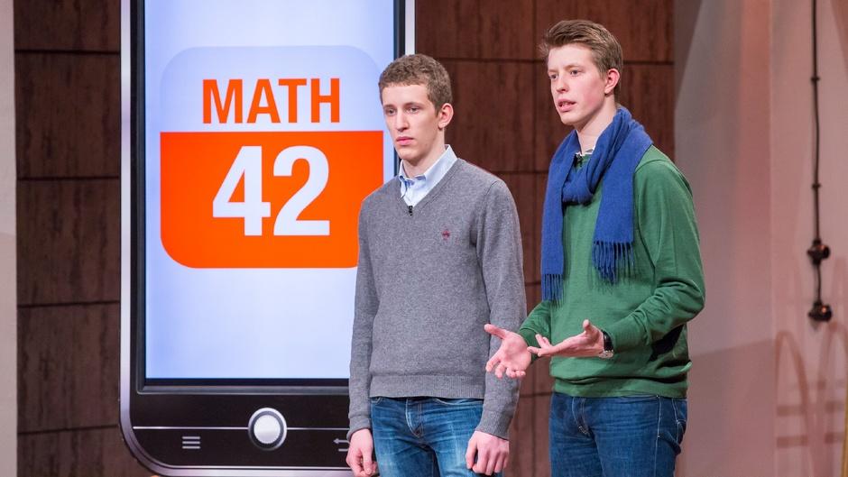 DHDL: Zwei Millionen Euro wollten die Brüder Nitsche für 20 Prozent Firmenanteil der App Math 42. © VOX/Bernd-Michael Maurer