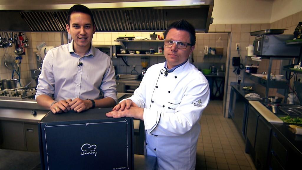 Dinnery bei DHDL: Die Gründer Marcus Läber (r.) und Ricardo E. Diaz Foto: VOX/Sony