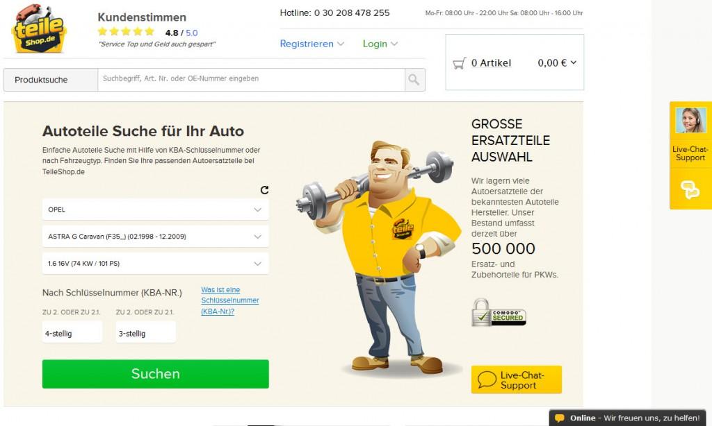 Auf teileshop.de kann man jede Menge Ersatzteile für das geliebte Auto erwerben.
